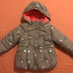 🆕Okie Dokie gray/silver puffer jacket